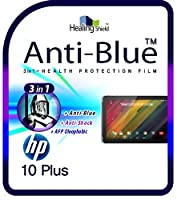 Healingshield スキンシール液晶保護フィルム Eye Protection Anti UV Blue Ray Film for Hp Tablet 10 Plus [Front 1pc]