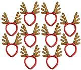 トナカイ カチューシャ 皆で付けて クリスマス パーティー 保管用遮光防水バッグ セット <10個 >