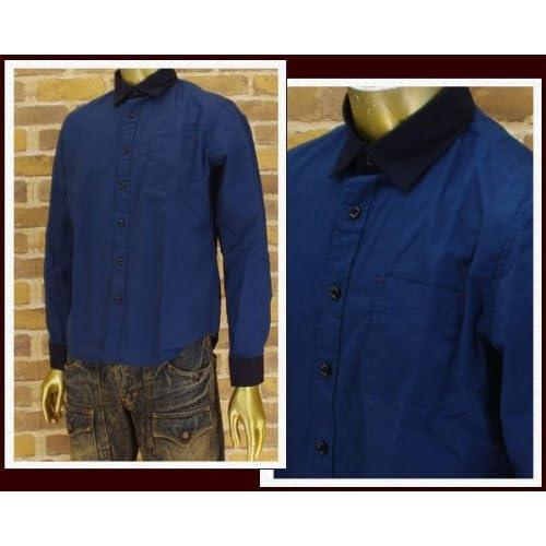キャンディファンタジー CANDY FANTASY クレリック ブロード ロングシャツ メンズ 14008-3 ブルー M