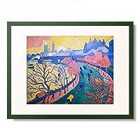 アンドレ・ドラン Andre Derain 「Charing Cross Bridge and Westminster, London. About 1906」 額装アート作品