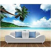 Mingld 自然壁紙ビーチ風景写真壁紙壁画3Dリビングルーム寝室紙張りPeintwallpaper-150X120Cm