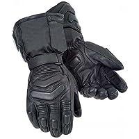 Australian Bikers Gear Waterproof Thermal Leather Gloves (L)