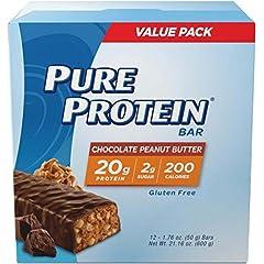 Worldwide Pure Protein 高タンパク質のミールリプレイスメントバー ピーナッツ[海外直送品]