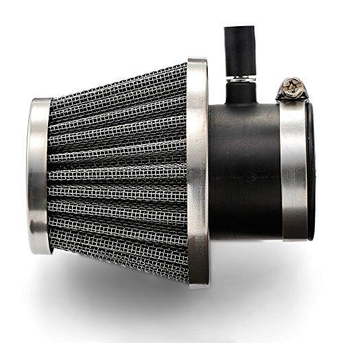 デイトナ(DAYTONA) NEWスーパーパワーフィルター(φ35ニップル付)(φ5ニップル付) 排ガスモデル対応 ストレートタイプ 45512