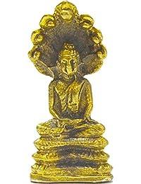 仏陀像ジュエリータイHoly Pra naakprok Sculpture Prosperity Lucky安全Sacred Amulets