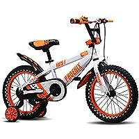 YANFEI 子ども用自転車 青いオレンジのバイクキッドバイク3?8歳の男の子と女の子安定して安全に乗る 子供用ギフト