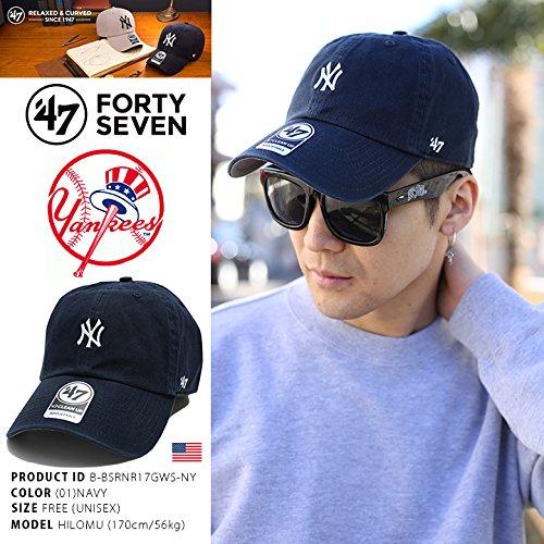 【B-BSRNR17GWS-NY】 フォーティーセブンブランド 47BRAND ローキャップ CAP MLB メジャーリーグ ニューヨーク ヤンキース 正規品 (01)紺 Fサイズ(男女兼用)