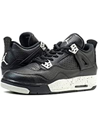 [ナイキ]NIKE AIR JORDAN 4 RETRO BG BLACK/TECH GREY 【OREO】 [並行輸入品]