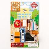 おもしろけしごむ学校セット2Japan motif eraser