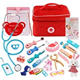 JVSISM Children Pretend Doctor Toy Set Durable Nurse Injection Tool Wooden Simulation Medicine Box Sturdy Gift Case,NO.3