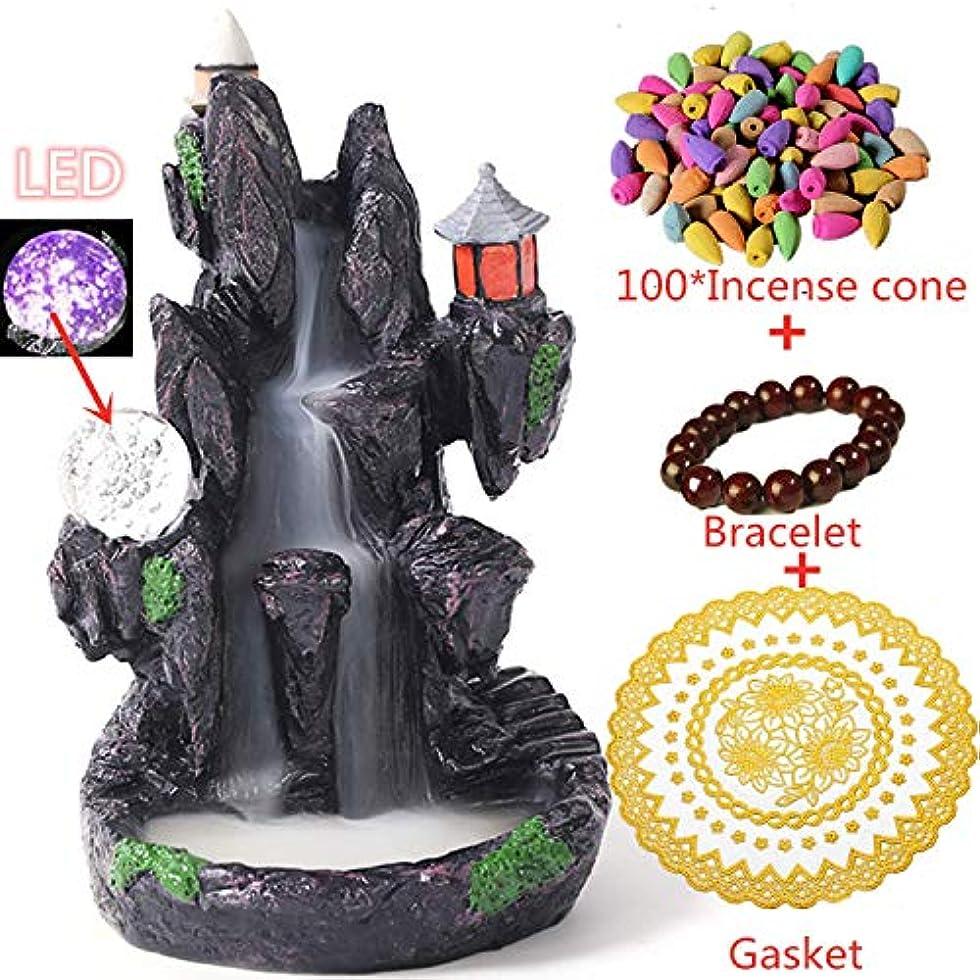 内部アボートごみ(Style4) - Backflow Incense Burner Buddha monk and Moon Ceramic Censer for Home Decor Tea ceremony (Style4)
