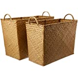 LaVida Woven Memi Storage Basket 2 Piece Set, Natural, 2 Piece