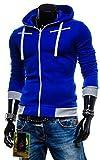 (エーライフ) A LIFE メンズ ジャケット パーカー フード付き ジャージ トレーナー フィットネス トレーニング (ブルー/L)
