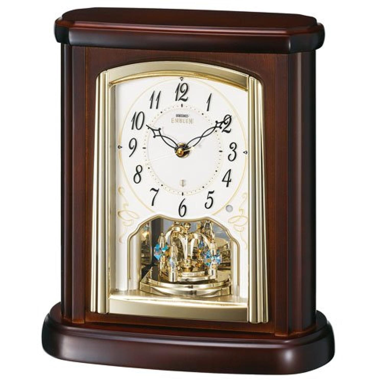 SEIKO CLOCK EMBLEM (セイコークロックエンブレム) 電波 置 時計 HW582B アナログ 濃 茶 木地