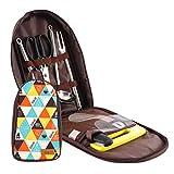 QD-SGMP アウトドア クッキングツール 調理器具 7点セット 5点セット バーベキュークッキングツールセット 収納バッグ付き 最新型 (7点セット