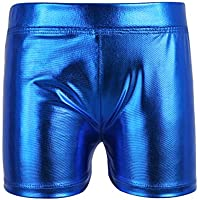 iiniim Girls Kids Wet Look Shiny Metallic Dance Shorts Bottoms Gymnastics Dancewear