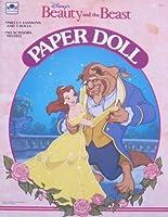 Disney BEAUTY & THE BEAST PAPER DOLL Book UNCUT w BELLE, PRINCE & Beast dolls (1991 Golden)