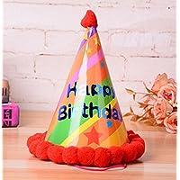HuaQingPiJu-JP 誕生日パーティー用品スターパターンコーン帽子リトルソフトボールCap_Orange