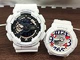 カシオ CASIO 腕時計 G-SHOCK&BABY-G ペアウォッチ 恋人たちのGショックペア 純正ペアケース入りペア腕時計 ジーショック&ベビージー ホワイト GA-110RG-7AJF BGA-130TR-7BJF 国内正規品