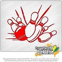 ボウリングストライク Bowling Strike skittles 14cm x 10cm 15色 - ネオン+クロム! ステッカービニールオートバイ