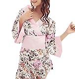 (R-Dream) セクシー モダン 和服 浴衣 ドレス 着物 コスプレ 和装 コスチューム 衣装 花魁 おいらん 和風 ランジェリー パジャマ ミニ レディース 選べる5タイプ (タイプC)