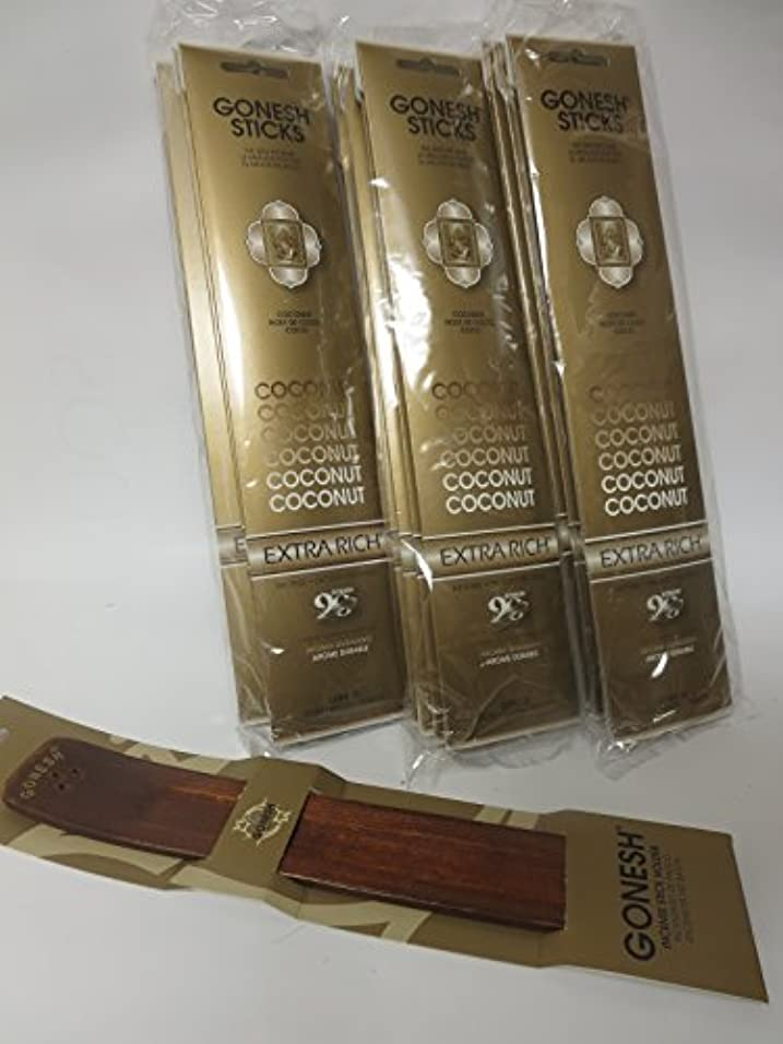ナサニエル区方言ホラーGonesh Incense Sticks Coconut Lot of 12