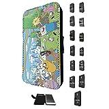 451 - Funny Adventure Time Cartoon Design Samsung Galaxy Note 3 レザー手帳型ケース ダイアリー カード 収納 ポケット スロット スタンド 財布型