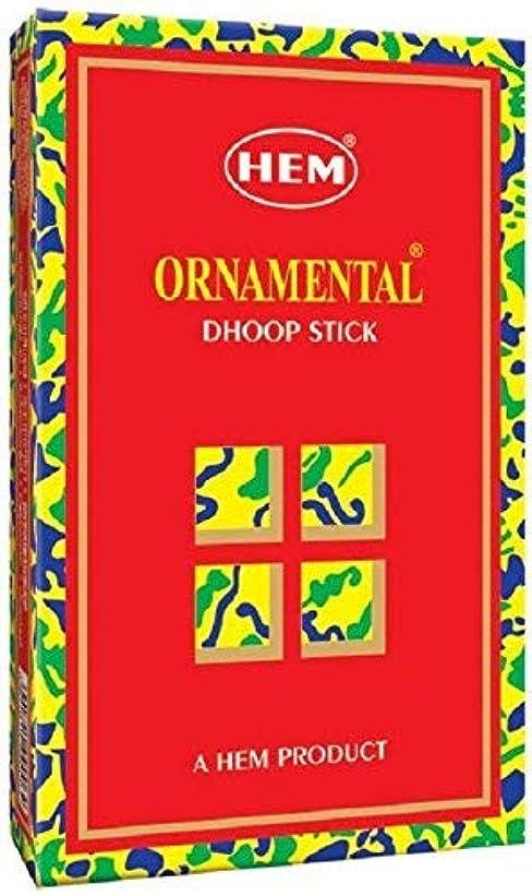 ウイルス幻影母音Hem Ornamental Dhoop - 100 g