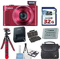 Canon PowerShot sx620HSデジタルカメラ(レッド) with 32GB高速メモリカード+デラックスカメラケース+柔軟なスパイダー三脚+スターターキット& Deluxe Accessory Bundle