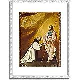 スルバラン「Christ appearing to Brother Andrew Salmeron. 1639 」 インテリア アート 絵画 プリント 額装作品 フレーム:装飾(白) サイズ:XL (563mm X 745mm)