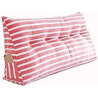 PENGFEI クッションベッドの背もたれベッドソファバックレスト 腰部の布張り 枕を読む 洗える、 11色、 6サイズ (色 : Red 2#, サイズ さいず : 120x20x50CM)