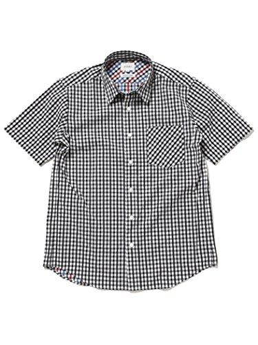 (ビームス) BEAMS/ギンガムチェック 半袖シャツ BLACK M 11010809301