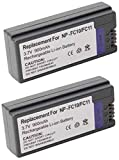 Amsahr npfc11–2ctデジタル交換用カメラとビデオカメラ用バッテリーSony NP - fc11、np-fc10、dsc-f77(グレー)