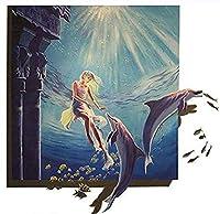 ZDDYX デジタル絵画写真diyセットフルセット赤い唇女性ウォールステッカーリビングルーム壁画家decor40x50cmでフレーム