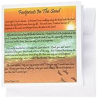 Edmond Hogge Jrスピリチュアル–Footprints In The Sand–グリーティングカード Set of 6 Greeting Cards