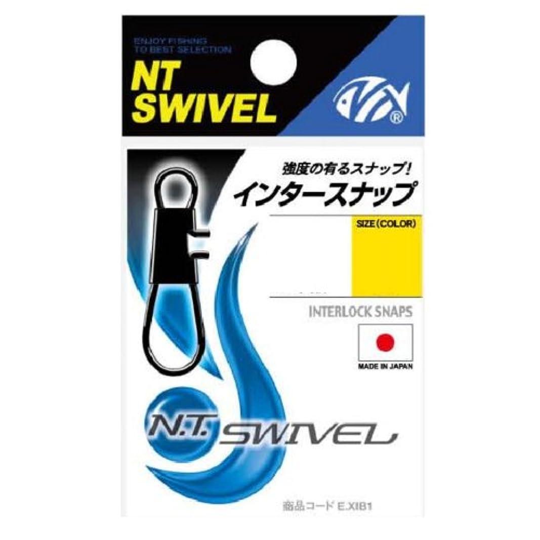 ペパーミント崩壊肥満NTスイベル(N.T.SWIVEL) インタースナップ クロ #1