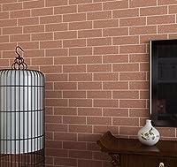 Guodimao 中国の背景wallpaper_3d純白のタイル、模造煉瓦、コーヒーショップ、中国の背景の壁紙、0.53 * 10M (Color : C)