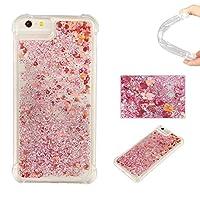 iPhone6S/6 ケース BRAVODAY [流れる愛] 輝く きれい 可愛い iPhone6S/6 シリコン ケース スターライト 愛 [エアバンパー] [衝撃吸収] iPhone6S/6 シリコン ケース [全面保護] 落下時の衝撃から本体を守る 手触りがよい 衝撃吸収構造を兼ね備えたケース (赤)
