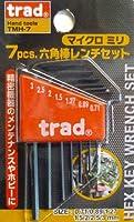 trad 7pcs六角棒レンチセット ミリサイズ TMH-7