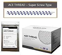 【並行輸入】 ACE PDO Thread lift Korea (リフティング糸 / メソン / 漢方病院針 / 鍼 ) / Ultra V-Lift / Face Lift - Super Screw Type 100pcs (29G50)