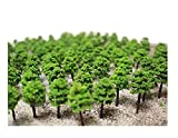Z N ゲージ ジオラマ 用 4 cm 深 緑 樹木 模型 50 100 本セット (50本)
