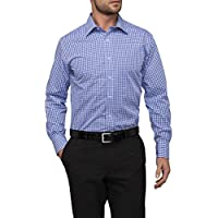 Van Heusen Men's Euro Tailored Fit Shirt Medium Check