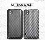 PLATA Optimus bright L-07C ケース カバー モザイク デザイン LG オプティマス 【 クリア 透明 clear 】