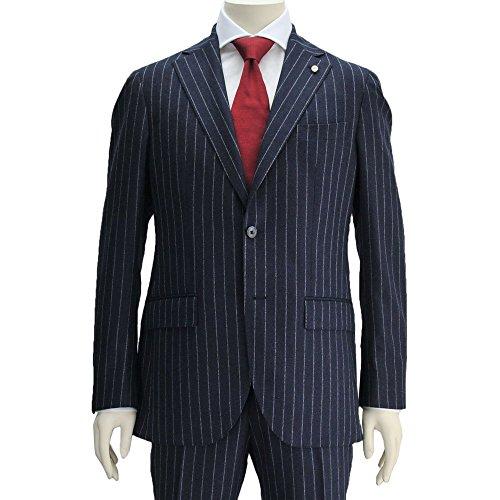 (ルイジビアンキ) Luigi Bianchi Mantov メンズ 2つボタンシングルスーツ ネイビー 正規取扱店