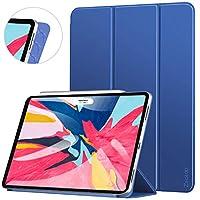 【軽量版】Ztotop iPad Pro 11 ケース 極薄軽量 3つ折りスタンド 磁気吸着式 オートスリープ機能 傷つけ防止 手帳型 2018秋発売のiPad Pro 11に対応 スマートカバー(ネイビー)