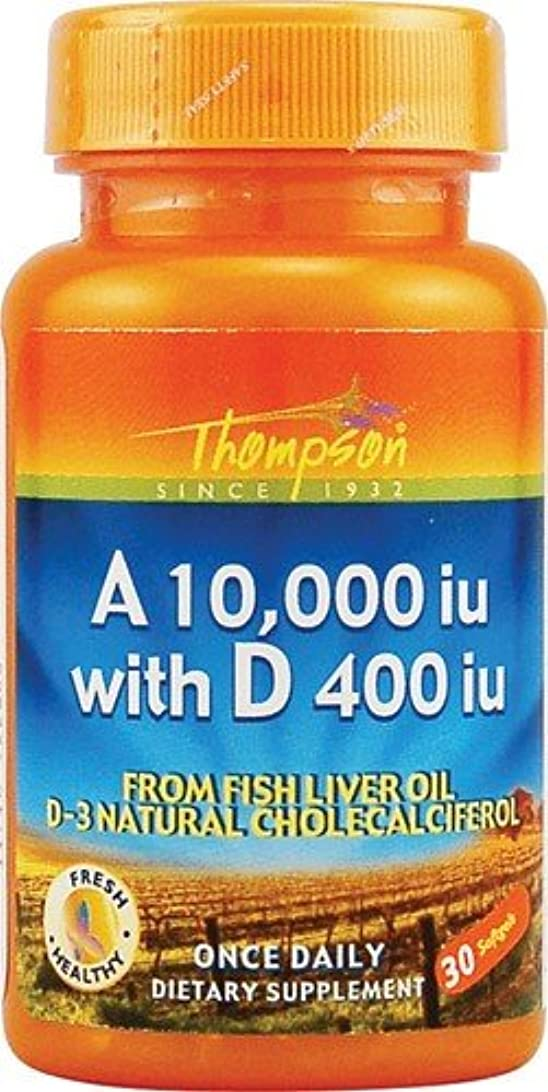 性的期待しての量海外直送品 Thompson Nutritional Products Vitamin A & D Fish Liver Oil, FISH LIVER OIL, 30 SGEL