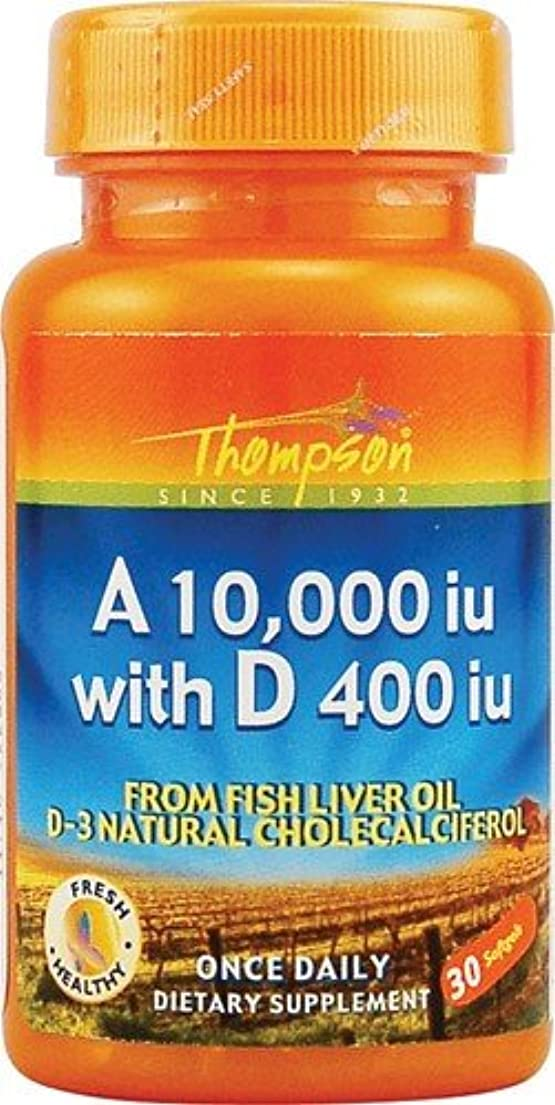 人質ゴミ箱を空にする彼の海外直送品 Thompson Nutritional Products Vitamin A & D Fish Liver Oil, FISH LIVER OIL, 30 SGEL
