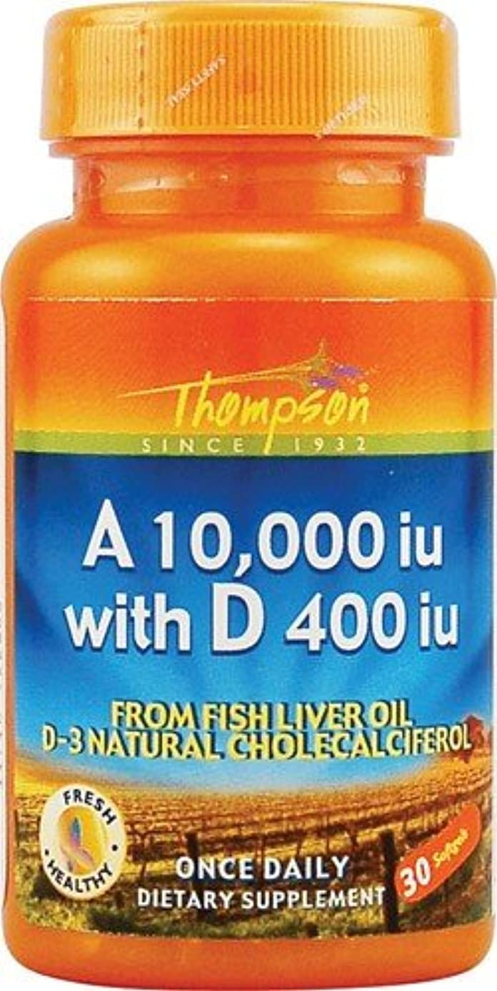 志すハードリング腐った海外直送品 Thompson Nutritional Products Vitamin A & D Fish Liver Oil, FISH LIVER OIL, 30 SGEL