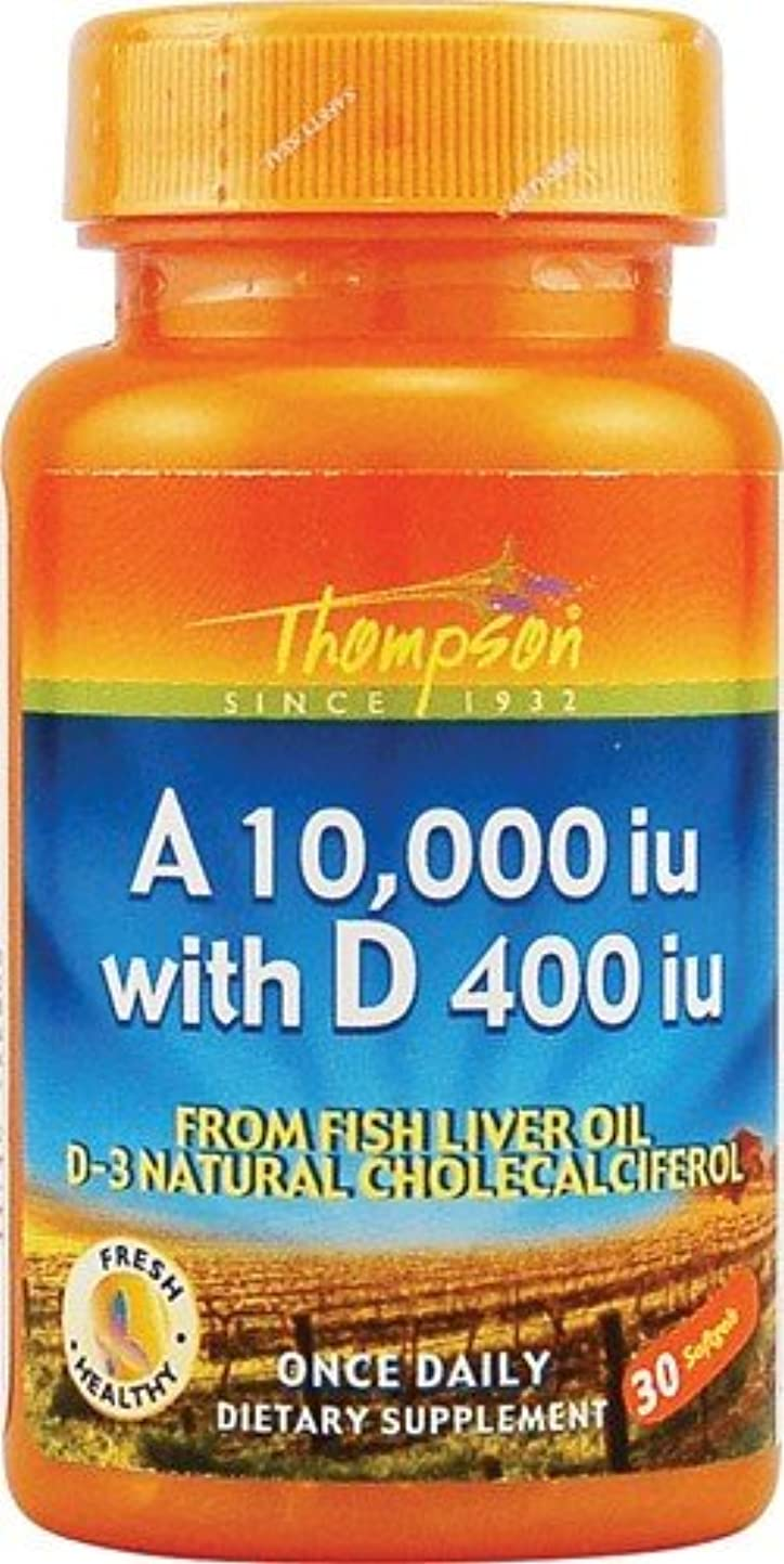 長椅子単なる泥棒海外直送品 Thompson Nutritional Products Vitamin A & D Fish Liver Oil, FISH LIVER OIL, 30 SGEL