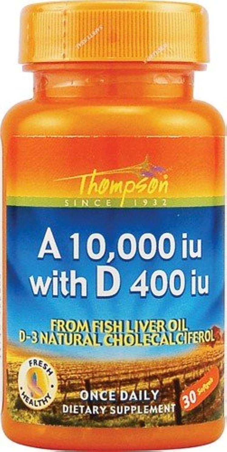アンタゴニストあえぎコンチネンタル海外直送品 Thompson Nutritional Products Vitamin A & D Fish Liver Oil, FISH LIVER OIL, 30 SGEL